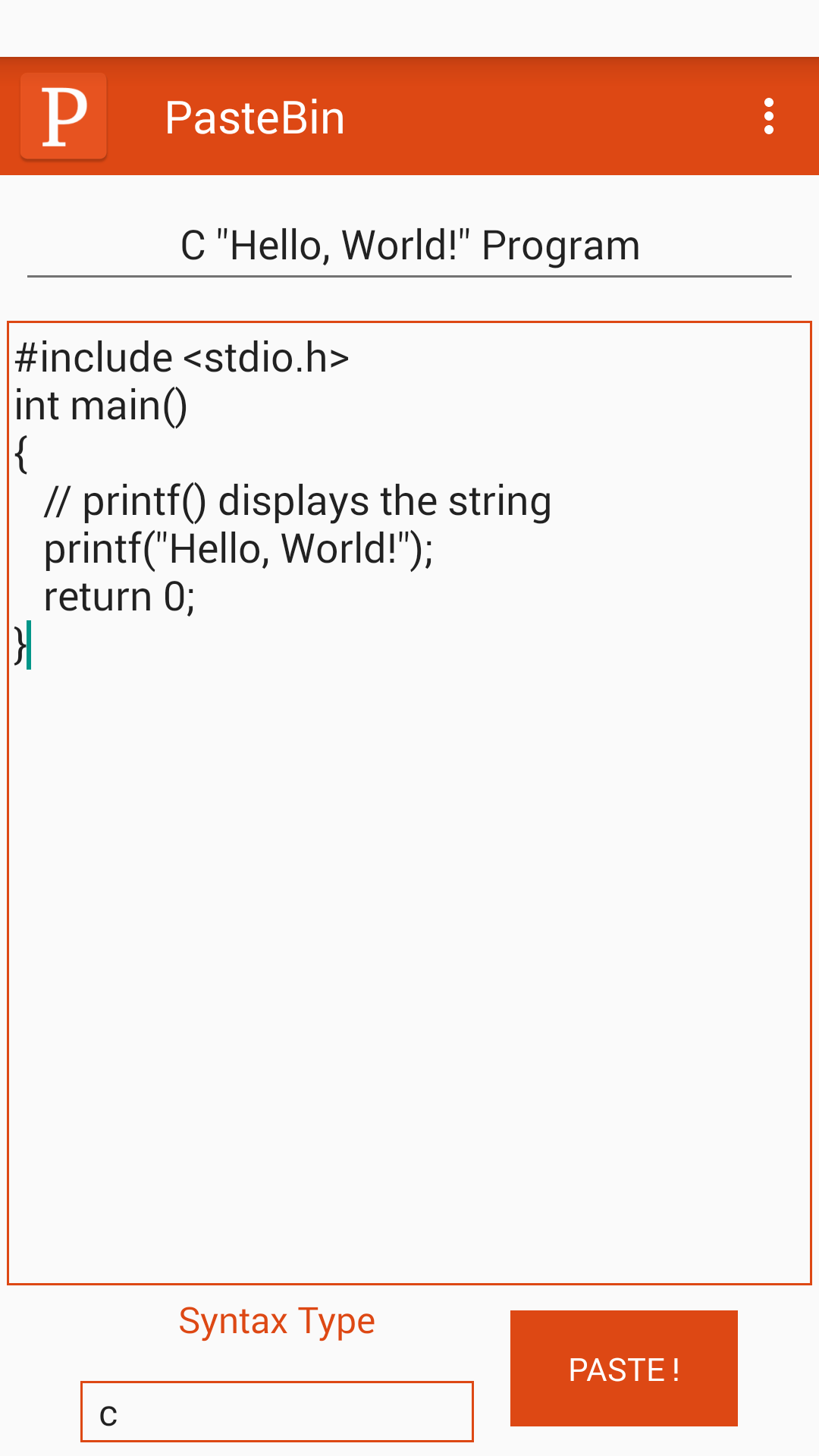 PasteBin | F-Droid - Free and Open Source Android App Repository
