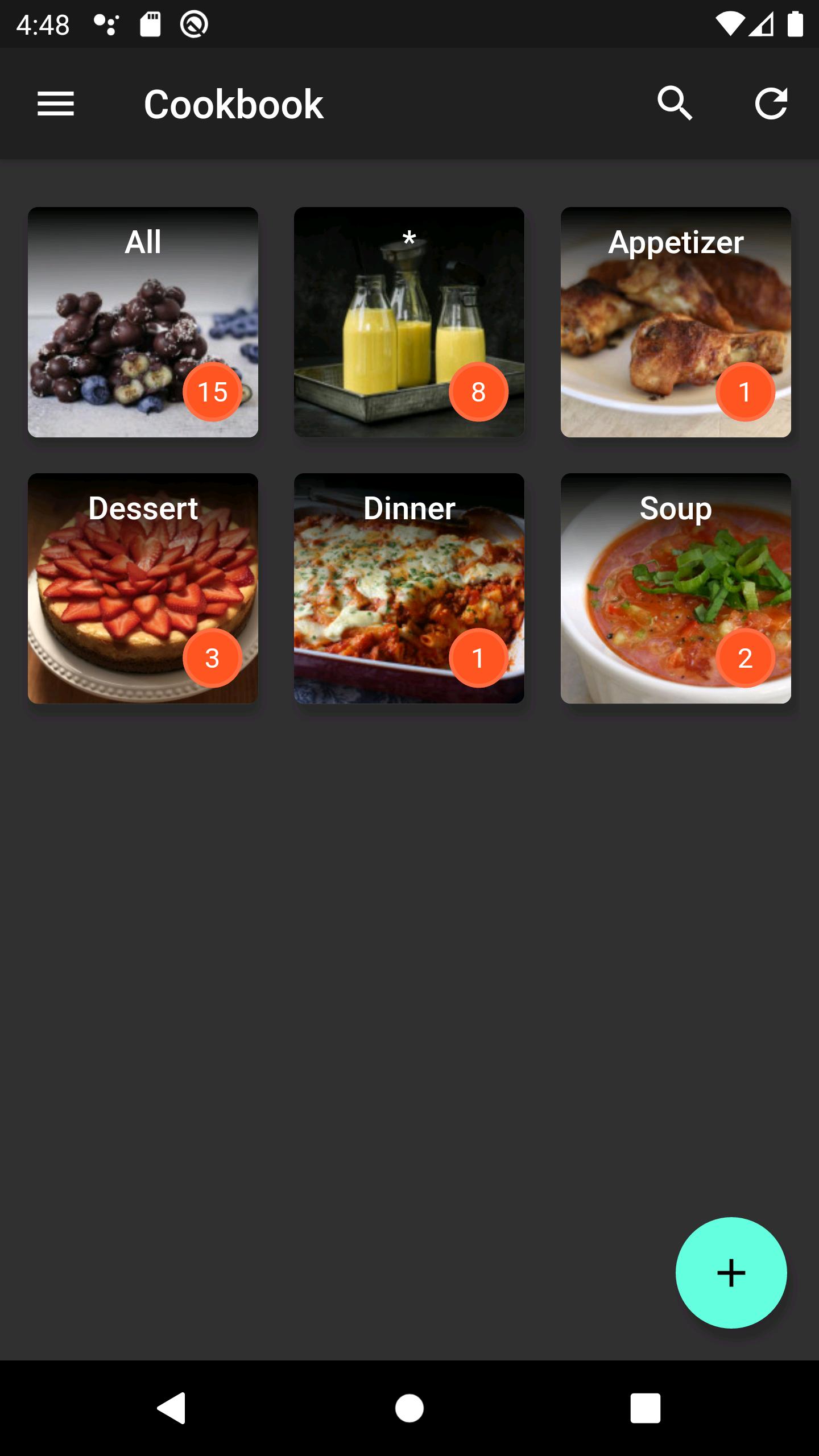 Bildschirmfoto der App