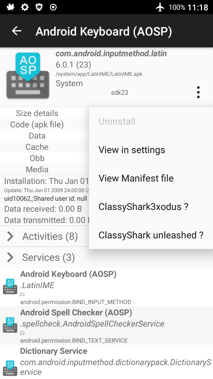ClassyShark3xodus | F-Droid - Free and Open Source Android